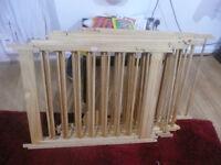 Child Baby Children Kid Wooden Playpen Play Pen Room Divider 12 Poles/bars Sided