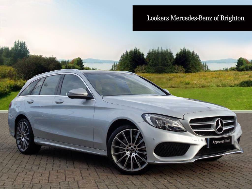mercedes benz c class c 220 d 4matic amg line premium silver 2017 09 01 in portslade east. Black Bedroom Furniture Sets. Home Design Ideas
