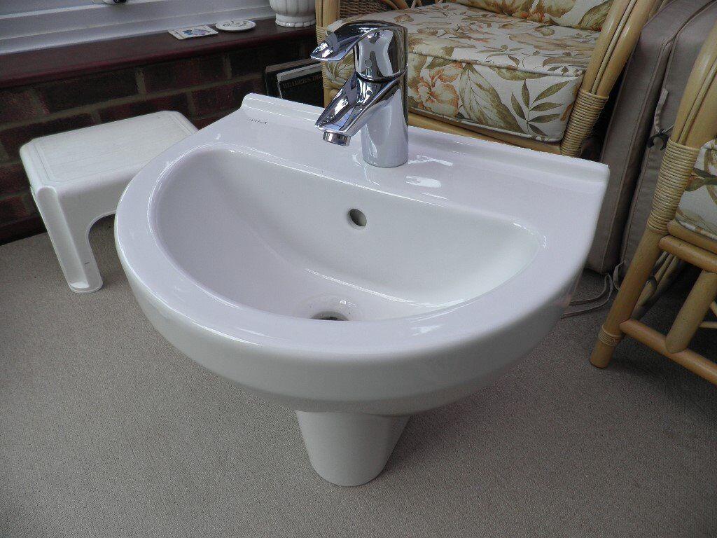 Bathroom Sinks Gumtree vitra semi-pedestal handwash basin with grohe mixer tap | in