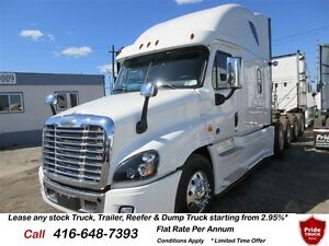 2017 Freightliner Cascadia Flat Rate From 2.95% PA !!