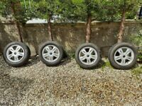 MINI ONE ALLOY WHEELS AND TYRES 175/65/15 PLUS CAMBER ARMS
