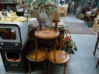 Thonet Bentwood Style Bistro Wooden Dining Chair Seat Rustic Kitchen