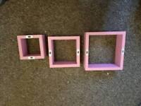 pink box shelves