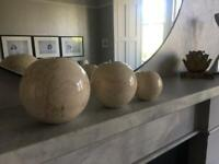 3 marble candle holder was £160