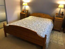 Bedside cabinets (Two) - Antique Pine 'Leksvik' range IKEA