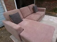 *BARGAIN* DFS Glacier - Corner Sofa Suite, Swivel Snuggle Chair & Storage Footstool - Mocha