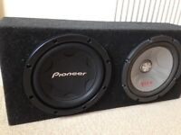 12 inch pioneer subwoofer double box
