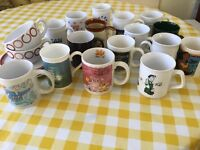 Selection of 18 quality mugs and cups