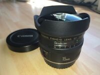 Canon Fisheye 15mm EF 1:28mm Lens as pictured