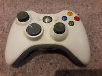 white xbox 360 with one controller no cables included