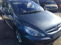 Peugeot 307hdi diesel estate service mot low tax £1295