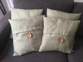 4 Green Cushions