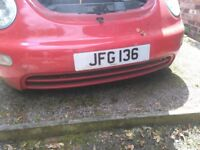 Private car registration plate - JFG 136
