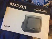 "Matsui 14"" Television TV model 14V1T with remote"