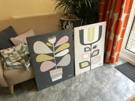 X2 Next Home Large Contemporary matching Art Canvases