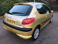 2006 peugeot 206 1.4 s LOW MILEAGE 66k history long mot 3 door MINT micra corsa fiesta polo