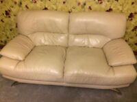 Leather Sofa Cream