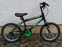 "16"" Goblin black & green boy's bike, excellent condition"