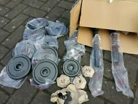 BRAND NEW CAST IROM DUMBBELL WEIGHTS SET