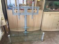 """HDTV Stand - Supported up to 55"""" - TV Glass Stand (ABSOLUTE BARGAIN)"""