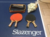 Table tennis full size with net bats and balls