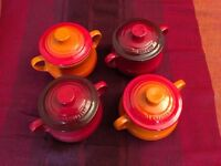 Le Creuset Mini Casserole Pots (New Unboxed)