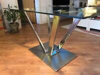 Glass / chrome dining table & chairs