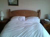 Solid wood, double bed and quality Myers mattress in good order