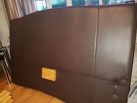 Double faux leather bed base and matress