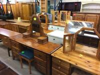 Used solid wood / pine dressing tables