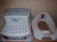 Disney Frozen Toddler Toilet Training Seat &Step Tool Combo