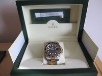 Gents Gold and Steel Rolex GMT Master watch