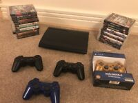 PS3 + 23 GAMES + CONTROLLERS