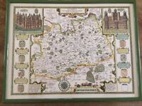 Old Surrey Map by John Speede
