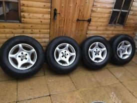 JEEP CHEROKEE XJ 5x114.3 ALLOY WHEELS WITH TYRES
