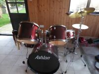Ashton 5 Piece fusion Drum Kit