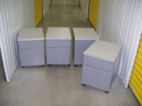Set of 4 under desk filing cabinets with drawers