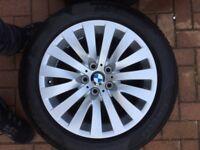 Original BMW alloys with Winter tyres