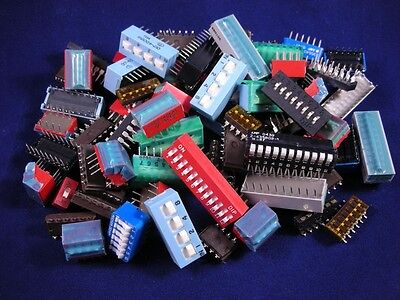 100 Pcs. Dip Switch - Grab Bag Assorted Values And Sizes