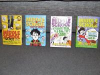 MIDDLE SCHOOL HARDBACK BOOKS - JAMES PATTERSON **EXCELLENT STORIES**