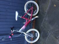 BIkE GIRLS RALEIGH 14INCH WHEELS GOOD WORKING ORDER