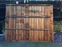3 feather board 6ft x 5ft fence panels