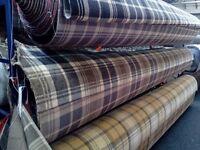Tartan wilton carpet