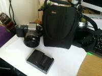 Sony Alpha Nex 3 DSLR Camera Lens Charger and Case HD Video