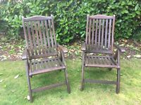 2 High Quality Collapsable Garden Chairs