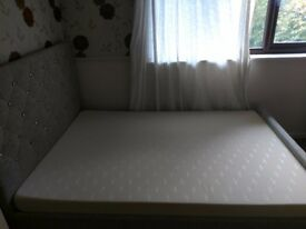 Selling ASAP Queen size double bed with foam mattress. Just 5 months old
