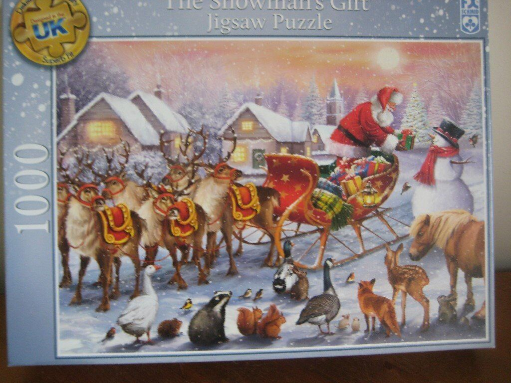 NEW 1000 PIECE JIGSAW PUZZLE - THE SNOWMAN'S GIFT - (Kirkby in Ashfield)