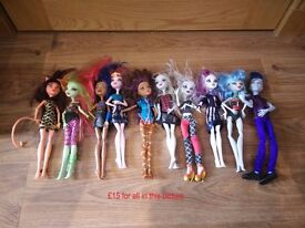 Monster high stuff - 9 separate bundles as priced per each picture collect/delivery Stonehaven