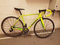Specialized Tarmac S-Works full carbon road Bike-Dura Ace 9000,Mavic R-SYS Wheelset in monster green