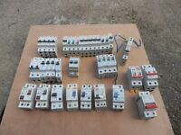 Isolators, RCD's and MCB's for consumer units.